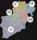 会津17市町村 エリアマップ
