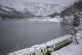 大志集落の雪景色