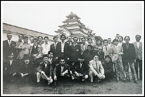 鶴ヶ城にて