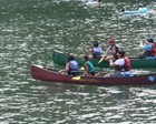 沼沢湖カヌー体験