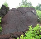 翁島岩なだれと流れ山