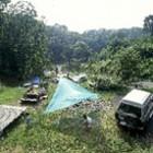 森林公園でオートキャンプ