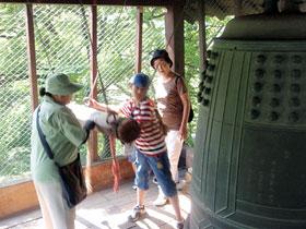 鶴ヶ城鐘つき体験